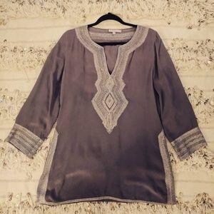 Calypso St Barth long sleeve silk tunic